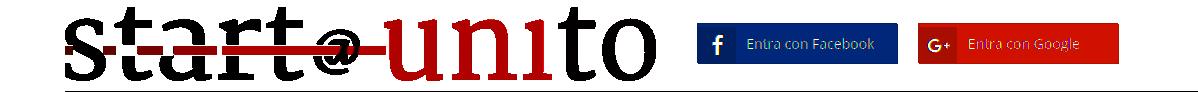 Immagine con i bottoni dei social networ google e facebook in alto nella homepage del sito